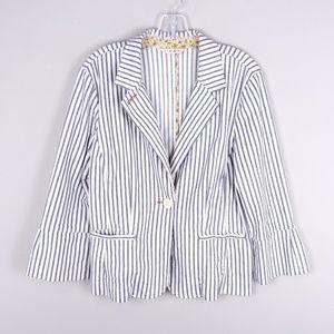 CAbi   Classic Striped Blazer